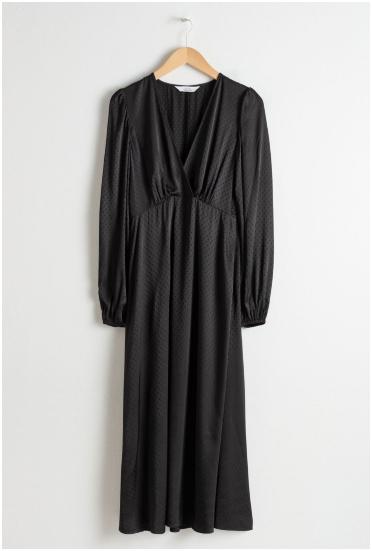 midi crna haljina