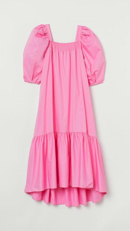 H&M haljina sa puf rukavima