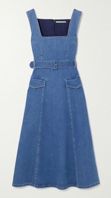 Midi teksas haljina sa kaišem Emilia Wickstead, net-a-porter.com.