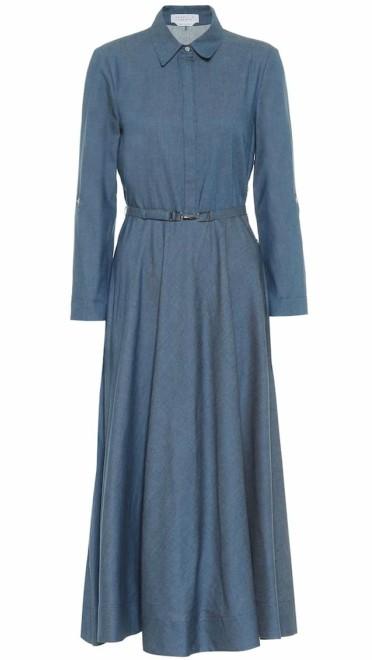 Midi haljina od teksasa Gabriela Hearst, mytheresa.com.