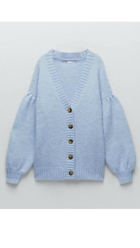 Veliki vuneni džemper, Zara.