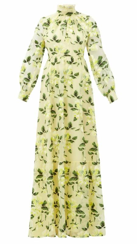 "Cvetna haljina ""Clementine"" od svilene organze, Erdem"