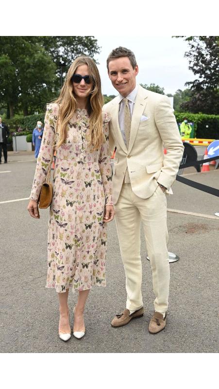 Hannah and Eddie Redmayne