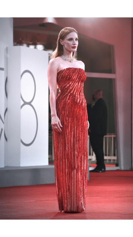 Jessica Chastain, Atelier Versace
